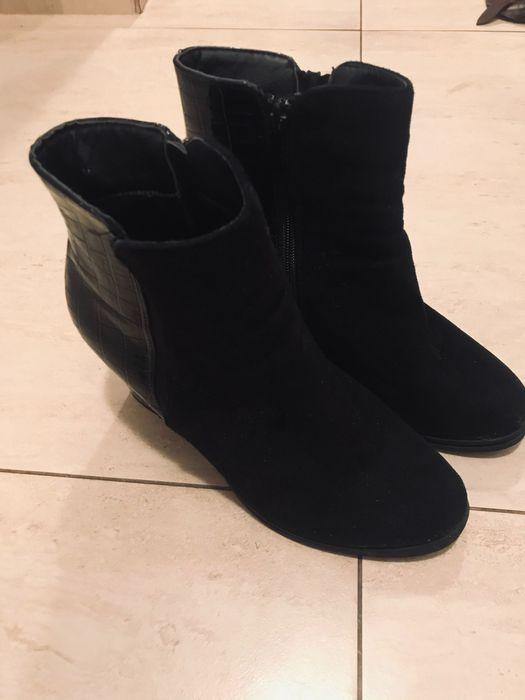 Czarne buty ma słupku 40 Sosnowiec - image 1