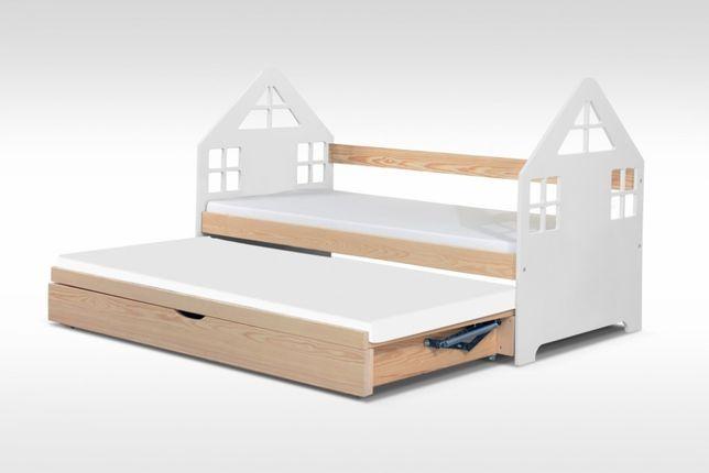 Podwójne łóżko Domek z materacami gratis! Dla 2 dzieci