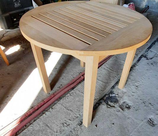 Dębowy stół  ogrodowy 90