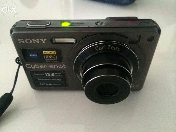 Máquina fotográfica sony dsc-w300 (titânio) + acessórios