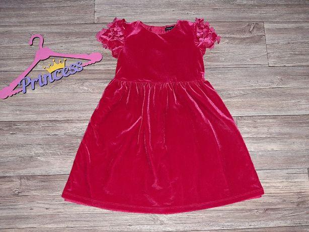 Веллюровое платье 5-6лет