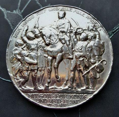 Монета 3 марки 1913 Пруссия, серебро