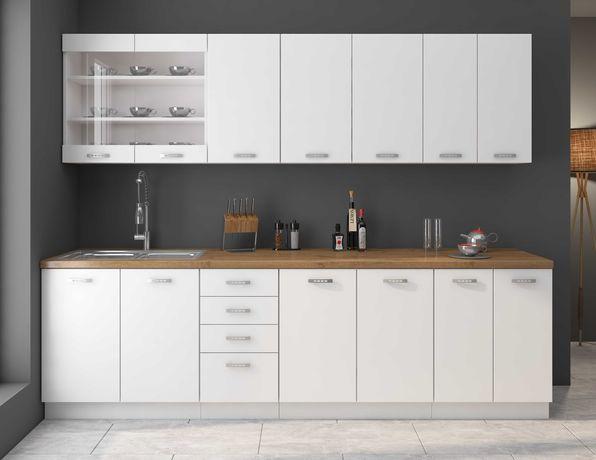 Meble kuchenne, modułowa kuchnia WHITE MAT biały mat
