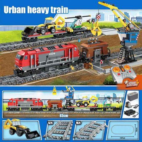 Конструктор Lepin 02009 (K 8014) Грузовой поезд, 1078 деталей