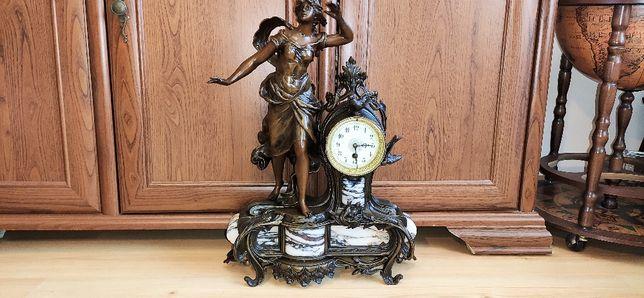 Piękny, wielki, zegar kominkowy, Francja XIX w. MOREAU