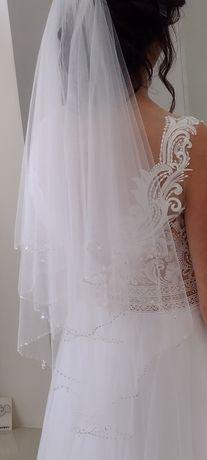 Welon ślubny krótki