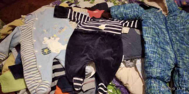 Продам пакет вещей на мальчика 3-6 месяцев,62,68