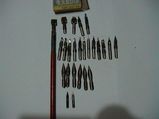 Ученическая перьевая ручка с перьями 70 -80х годов