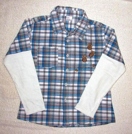 !Tanio - Elegancka koszula 116-122 cm -4-6 lat -100% bawełna- JAK NOWA