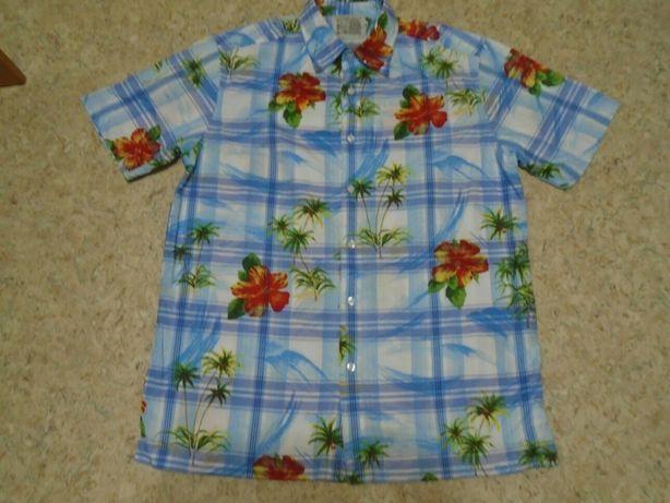 Рубашка гавайская р. L объём груди 114см длина 76см