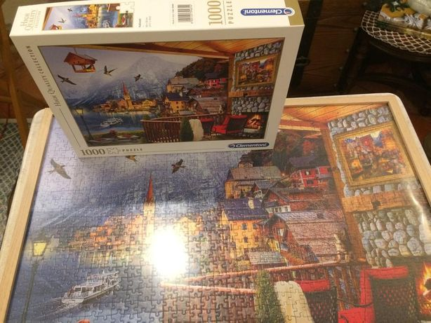 Puzzle 1000 peças Hallstatt clementoni Terminado