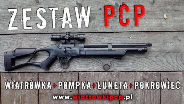 Wiatrówka Hatsan PCP Flash ZESTAW - Pompka, luneta, futerał RABAT