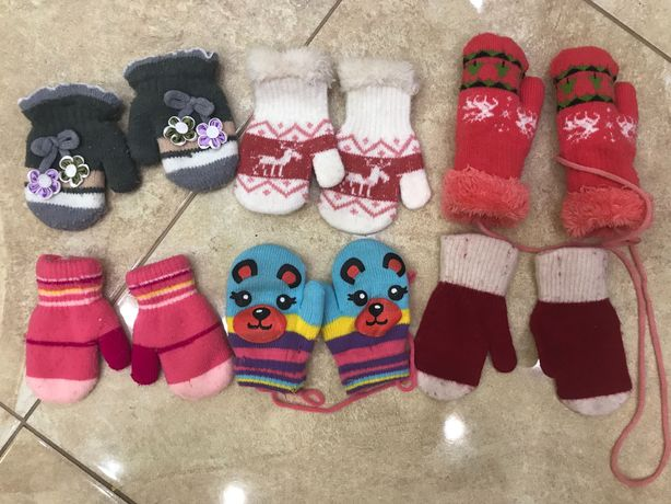 Детские рукавички варежки