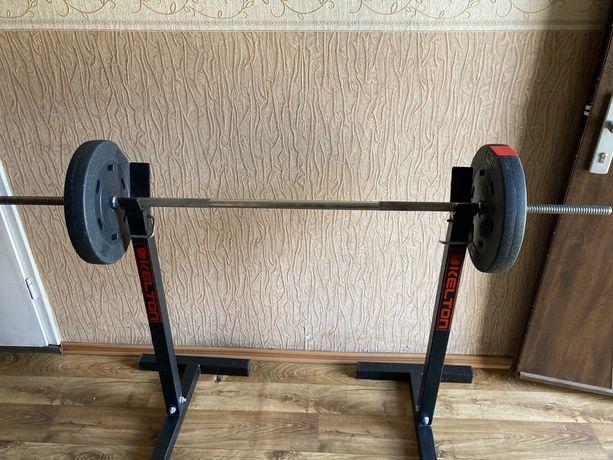 Gryf prosty z obciążeniem 2 x 10 kg Hop sport siłownia