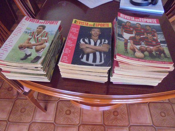 Revista do Esporte - lote de revistas brasileiras de futebol anos 60