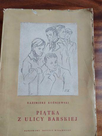 """Książka """"Piątka z ulicy Barskiej"""" - Kazimierz Koźniewski"""