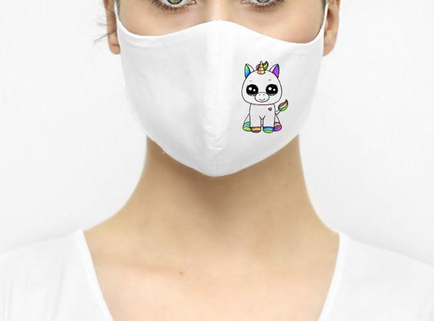 Maska maseczka ochronna jednorożec