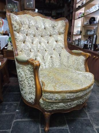Dwa fotele i puf styl Ludwik