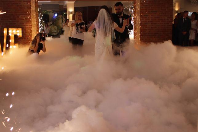 CIĘŻKI DYM- Taniec w chmurach. Fontanny iskier. Napis LOVE. KIELCE