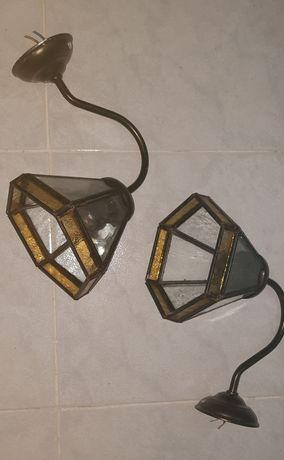 Candeeiros de Parede em Vitral tipo Tiffany
