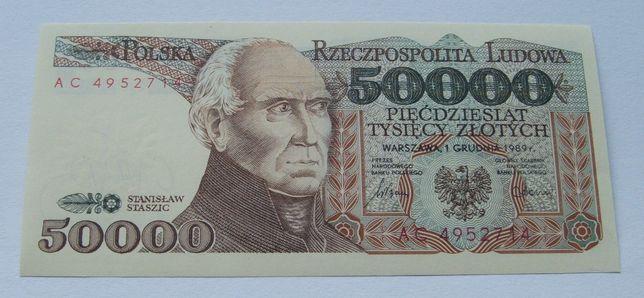 Banknot POLSKA 50000 ZŁ STASZIC - Z PACZKI Bankowej - Kolekcjonerski