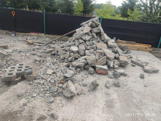 Oddam za darmo gruz, czysty beton 6 ton