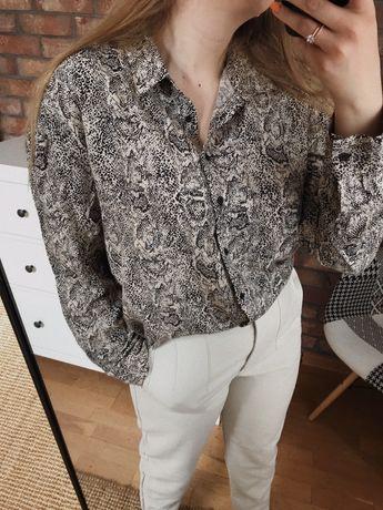 Koszula oversize w wężowy wzór print basic minimal