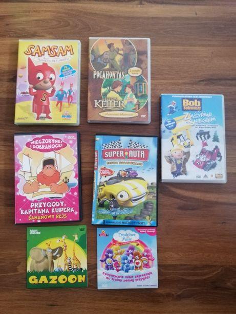 Filmy DVD bajki różne 7 płyt