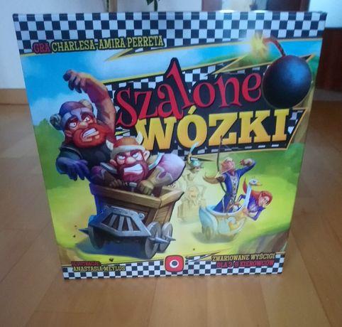Szalone Wózki - gra planszowa, jak nowa!