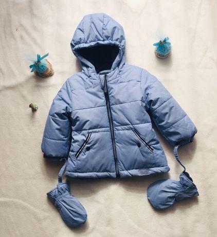 Kurteczka zimowa Coccodrillo z rękawiczkami 68