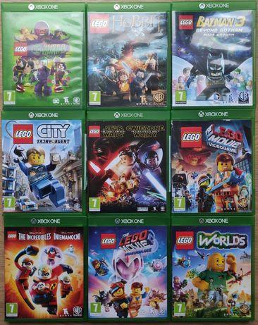 Gry Xbox one LEGO Przygoda Batman Hobbit Iniemamocni City DC Worlds