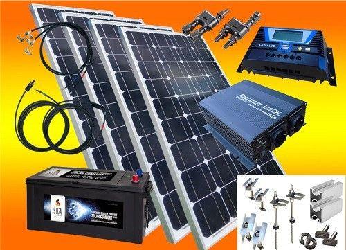 System wyspowy - komfort 700 wat z materiałem montażowym, z Aku 120 Ah