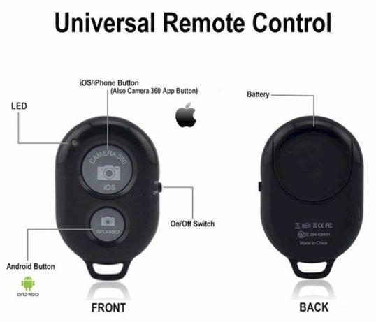 Controlador remoto bluetooth para máq fotográfica, telemóvel, tablet