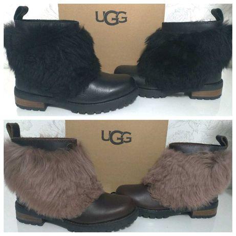 Ботинки UGG оригинал, австрал. овчина кожа США сапоги полусапожки угги