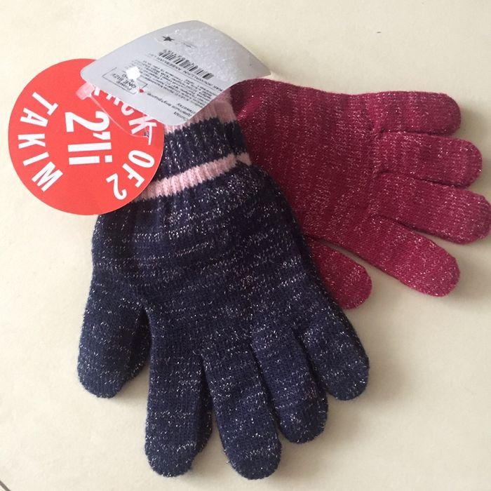 Перчатки для девочки Вишневое - изображение 1