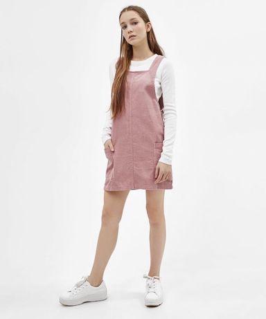 Сарафан вельветовый розовый S