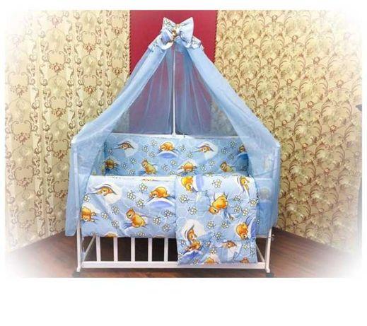 Комплект 10 в 1 постель детская с бортиками