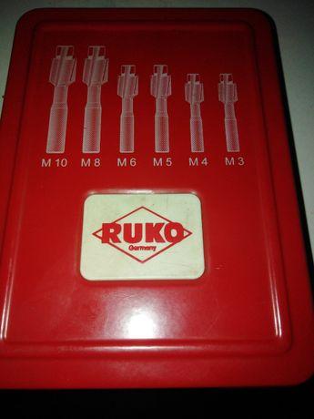 Набор цековок для сквозных отверстий RUKO