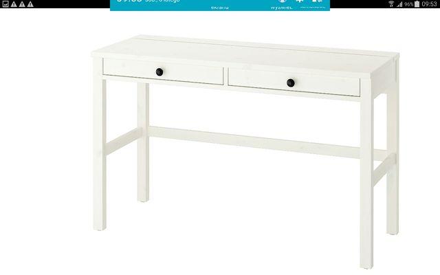Hemnes Ikea Biurko z dwoma szufladami - kolor biała bejca