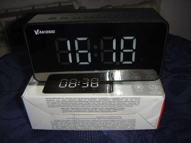 Zegar - Radio  Budzik  3  W  1  , 2- Głośniki  10 W / Bluetooth  5,0