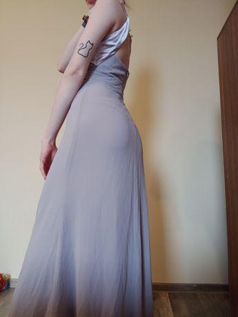 Długa suknia wieczorowa sukienka wizytowa wesele urodziny studniówka