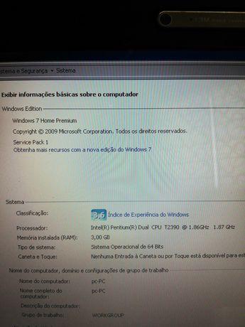 Portátil Asus 3gb RAM Intel pentium