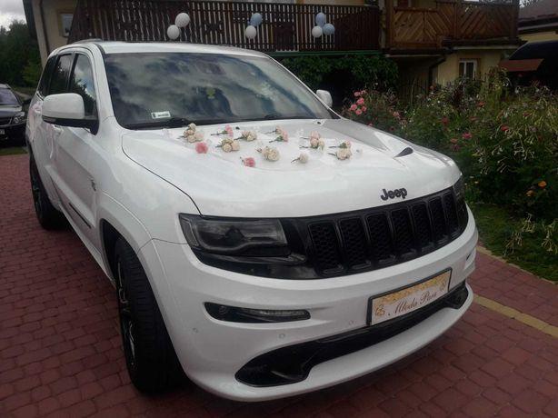 Samochód do na ślubu JEEP GRAND CHEROKEE SRT 6,4 HEMI biały