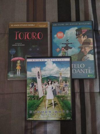Filmes Studio Ghibli / Momoru Hosoda - c/portes incluídos