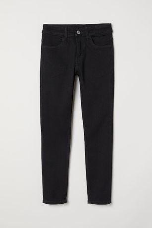 H&m czarne jeansy rurki skinny 164 j.nowe