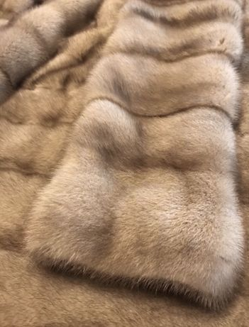 Норковая поперечная шуба