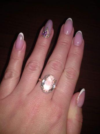 кольцо серебро с позолотой.