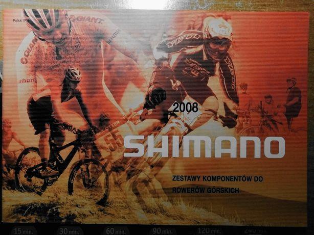 Unikatowy katalog sprzętu Shimano 2008 rowery górskie