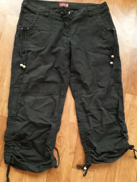 Spodnie rybaczki czarne M carry