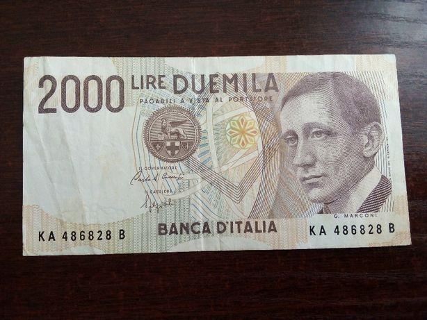 Banknot 2000 lirów Włochy